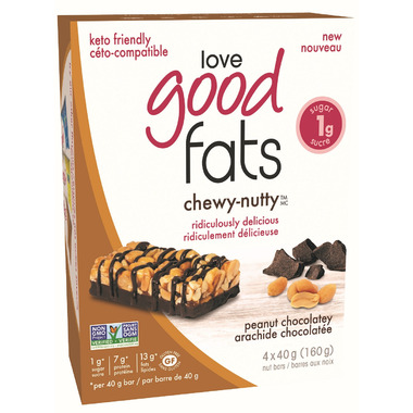 Love Good Fats Chewy Nutty Peanut Chocolatey