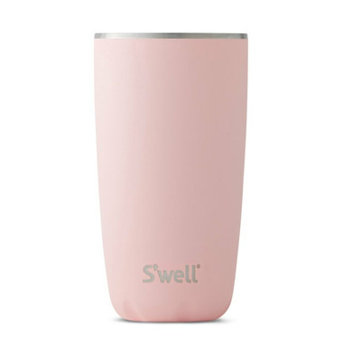 S\'well Pink Tumbler Collection Stainless Steel Insulated Cup Pink Topaz