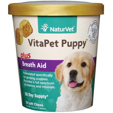 Naturvet VitaPet Puppy Plus Breath Aid Soft Chews
