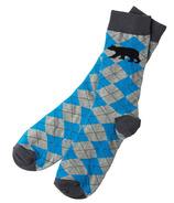 Hatley Little Blue House Men's Crew Socks Bear Argyle