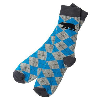 Little Blue House Men\'s Crew Socks Bear Argyle