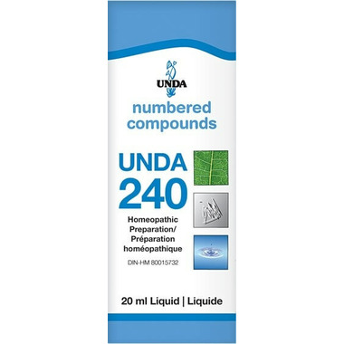 UNDA Numbered Compounds UNDA 240 Homeopathic Preparation