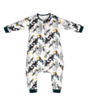 Nest Designs Organic Cotton Long Sleeve Sleep Suit 1.0 TOG Jungle Fever