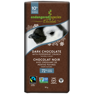 Endangered Species Dark Chocolate Peppermint Crunch