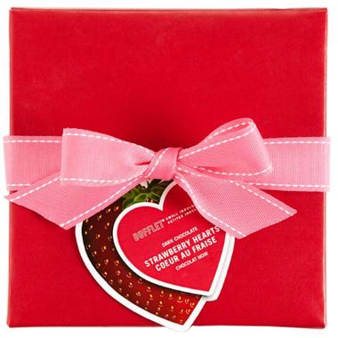 Dufflet Dark Chocolate Strawberry Hearts