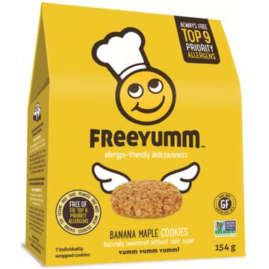 FreeYumm Banana Maple Cookies