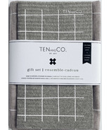 Ten and Co. Gift Set Grey Grid