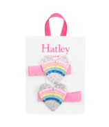 Hatley Rainbow Hearts Glitter Hair Clips