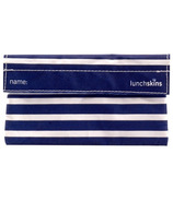 Lunchskins Navy Stripe Snack Bag