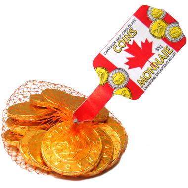 Canadian Milk Chocolate Coins
