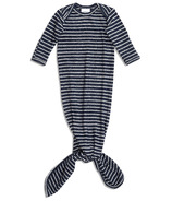 aden+anais Snuggle Knotted Gown Navy Stripe 0-3 Months