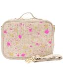 SoYoung Fuchsia & Gold Splatter Linen Lunch Box