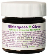 Living Libations Wintergreen Clean Activated Charcoal Toothpaste