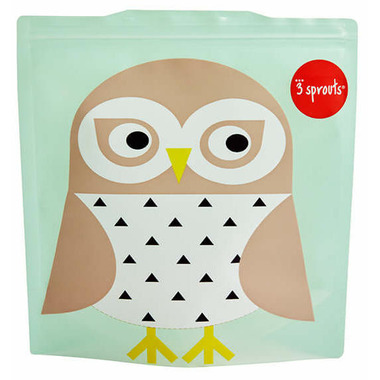 3 Sprouts Sandwich Bag Owl