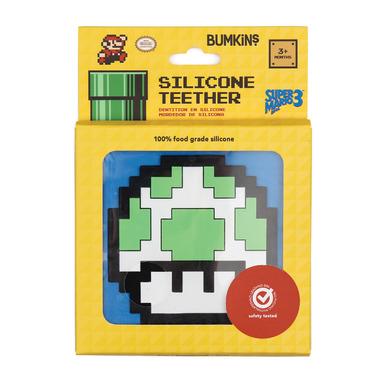 Bumkins Nintendo Silicone Teethers 8- Bit Green Mushroom