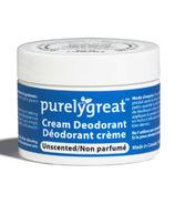 Déodorant crème non parfumé Purelygreat