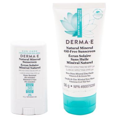 Derma E Facial and Sport Stick Sunscreen Bundle