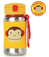 Skip Hop ZOO Stainless Steel Straw Bottle Monkey