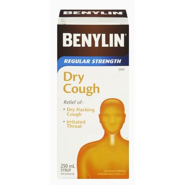 Benylin Regular Strength Dry Cough Syrup