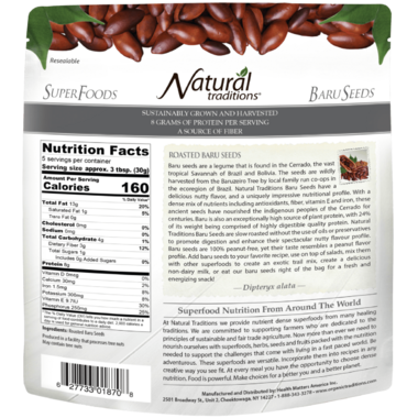 Natural Traditions Roasted Baru Seeds