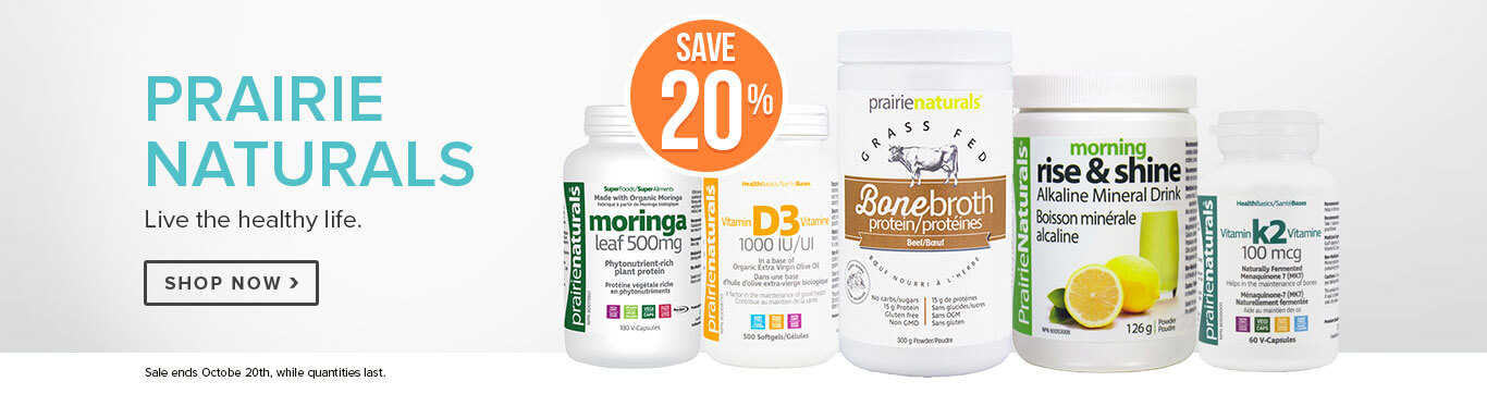 Save 20% on Prairie Naturals
