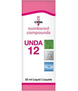 UNDA Numbered Compounds UNDA 12 Homeopathic Preparation