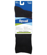 Rexall Men's Bamboo Dress Crew Diabetic Socks