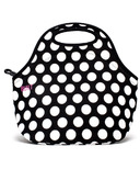 Built Gourmet Getaway Lunch Tote Big Dot Black & White