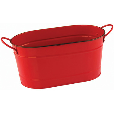 Nantucket Seafood Red Metal Seafood Tub