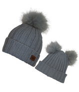 Calikids Baby & Mom Cashmere Touch Hat Grey