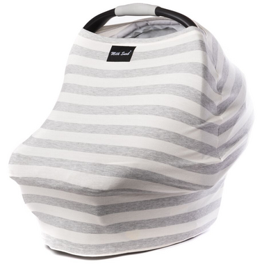 Milk Snob Cover Cream & Grey Stripes
