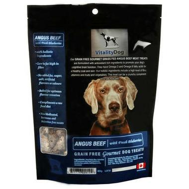 Vitality Dog Angus Beef with Fresh Blueberries Dog Treats
