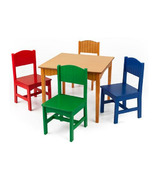 KidKraft Nantucket Table & Chair Set Primary Colours