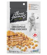 Three Farmers Roasted Chickpeas Turmeric & Spice