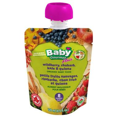 Baby Gourmet Plus Wild Berry Rhubarb Kale & Quinoa