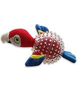 Spunky Pup Lil Squeaker Parrot Spikey Ball