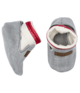 Juddlies Cottage Collection Organic Slippers Driftwood Grey