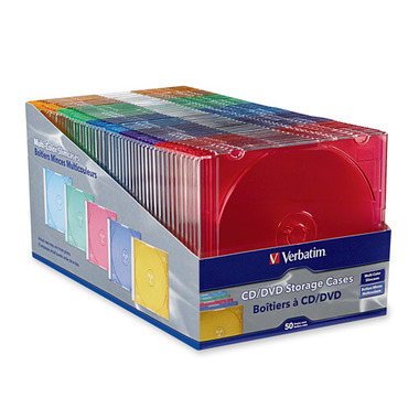 Verbatim Slimline CD/DVD Jewel Cases