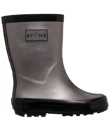Stonz Rain Boots Metallic Grey