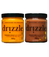 Drizzle Turmeric Gold Raw Honey & Cacao Luxe Raw Honey Bundle
