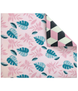 Play with Pieces Pink Leaf & Geo Play Mat