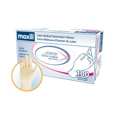 Maxill Smooth Latex Lightly Powdered Gloves