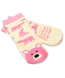 Hatley Pink Bear Naked Kids Socks