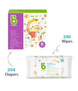 babyganics Size 4 Diaper + Fragrance Free Wipes Bundle