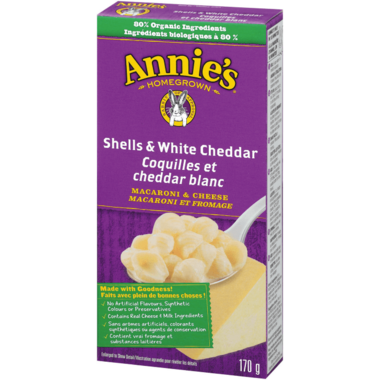 Annie\'s Homegrown Organic Shells & White Cheddar