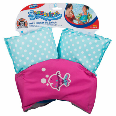 SwimWays Sea Squirts Swim Trainer Life Jacket Pink