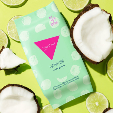 SweetSpot Labs Coconut Lime On-the-go Wipes