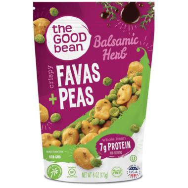 The Good Bean Balsamic Herb Crispy Favas + Peas