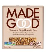 Barres granola biologiques MadeGood aux pépites de chocolat