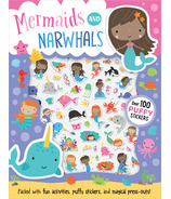 Make Believe Ideas Mermaids & Narwhals Puffy Sticker Activity Book